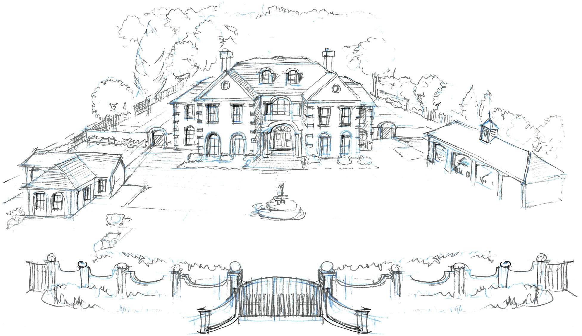 Hand drawn sketch by Andrew Scott