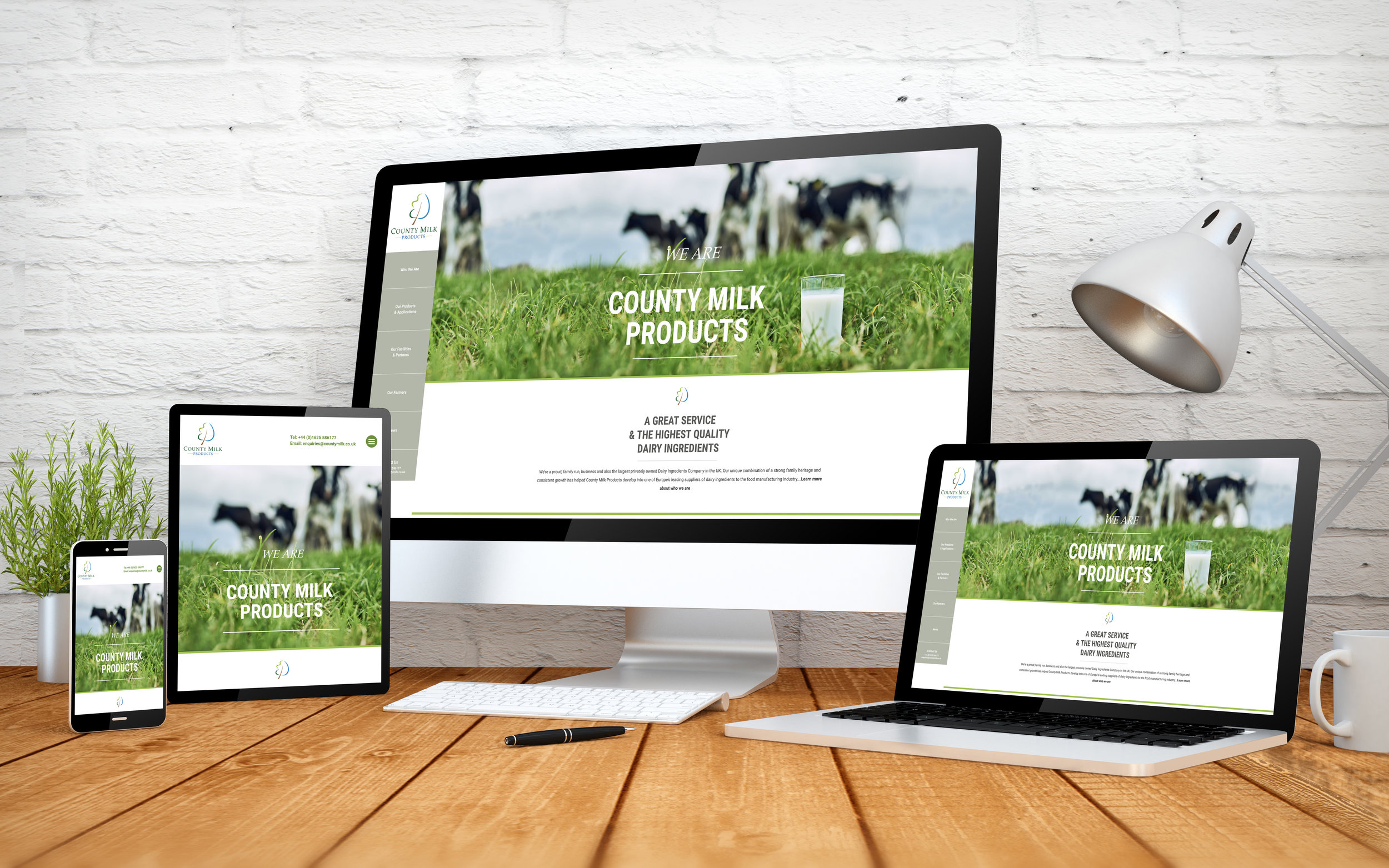 County Milk Products Website Design