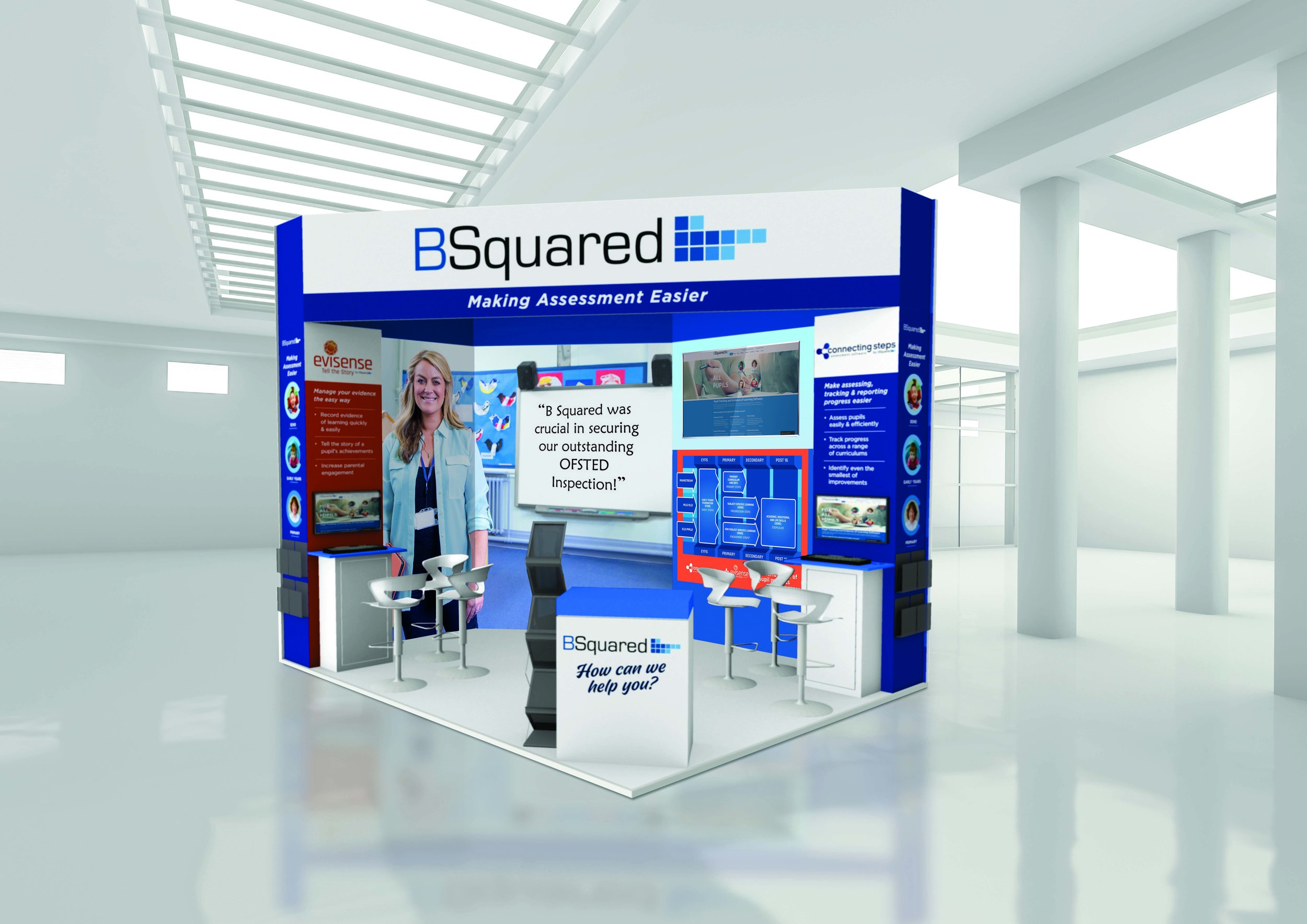BSquared stand design for an exhibition in 2019