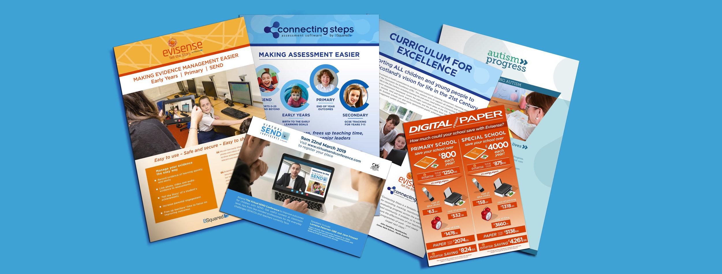 BSquared Brochures, Leaflet Design & Direct Mailers