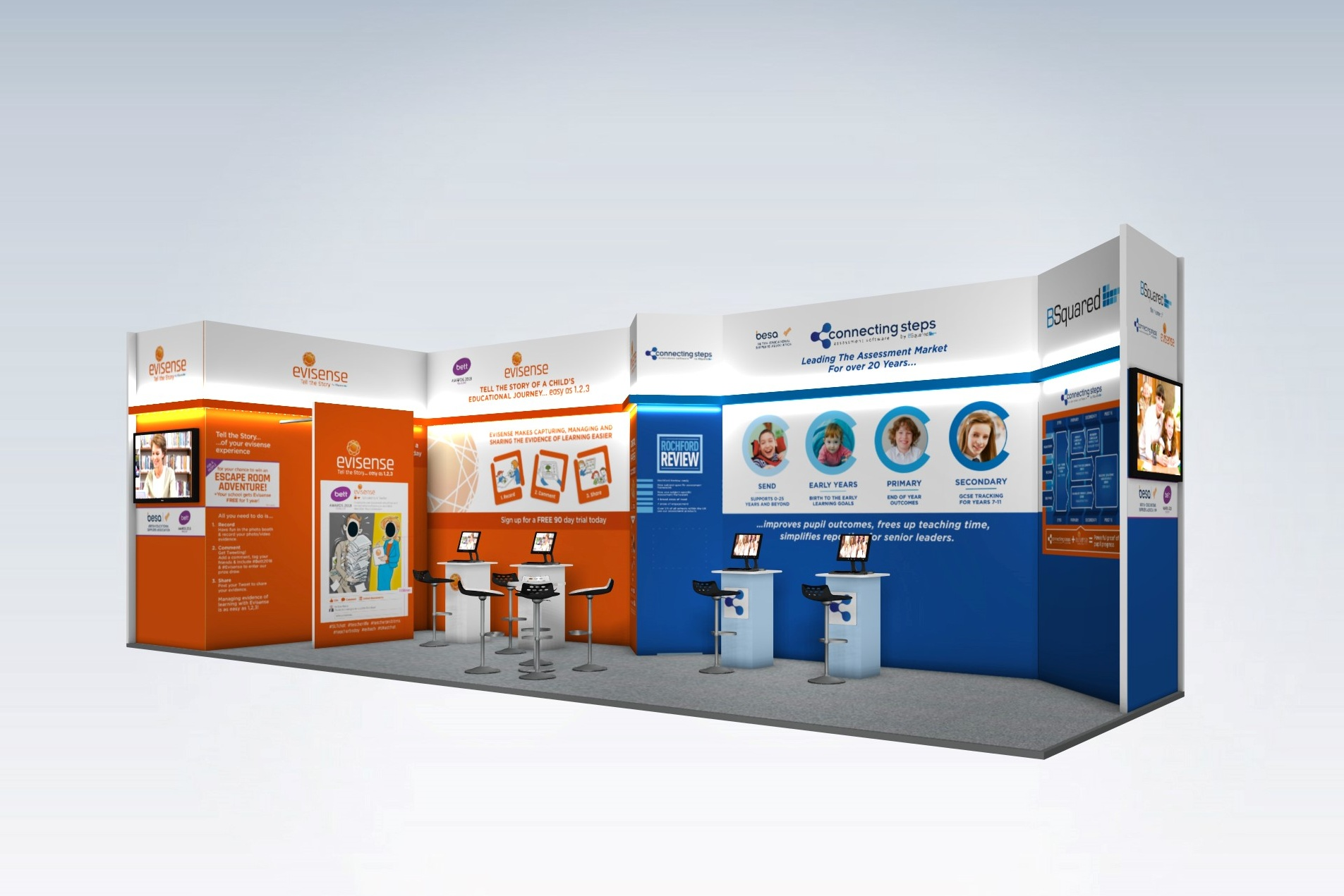 B Squared Exhibition Stand Design - With Photo Booth
