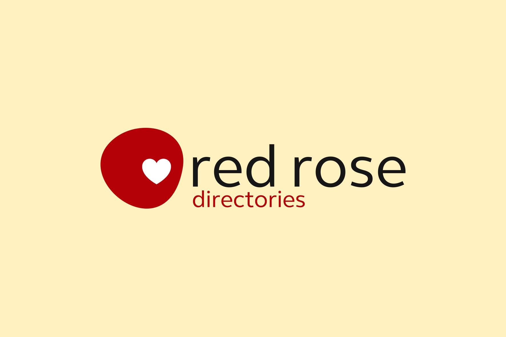Red Rose Directories Logo Design