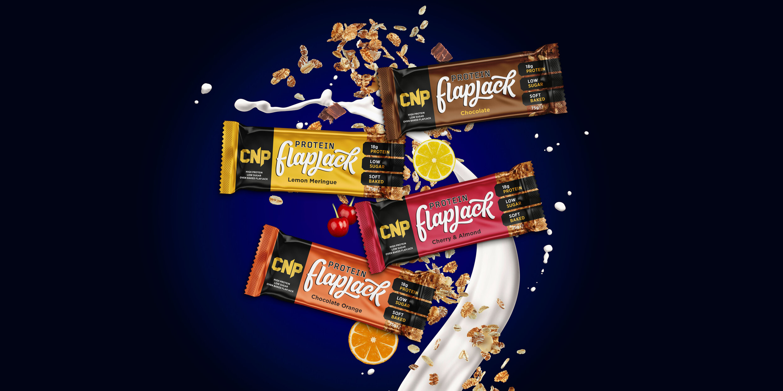 CNP Protein Flapjack Packaging Design