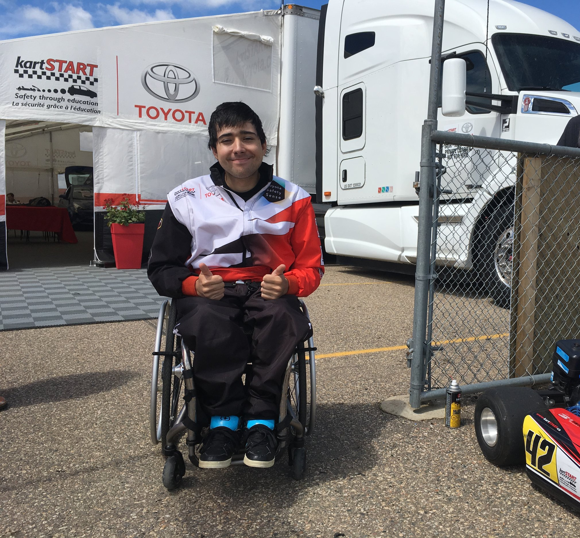 kartSTART & Toyota Canada - strongly believe in offering everyone an equal opportunity for a successful driving career and encourage each participant to be the best they can be.An inclusive national program like kartSTART presented by Toyota is unique and heart-warming.