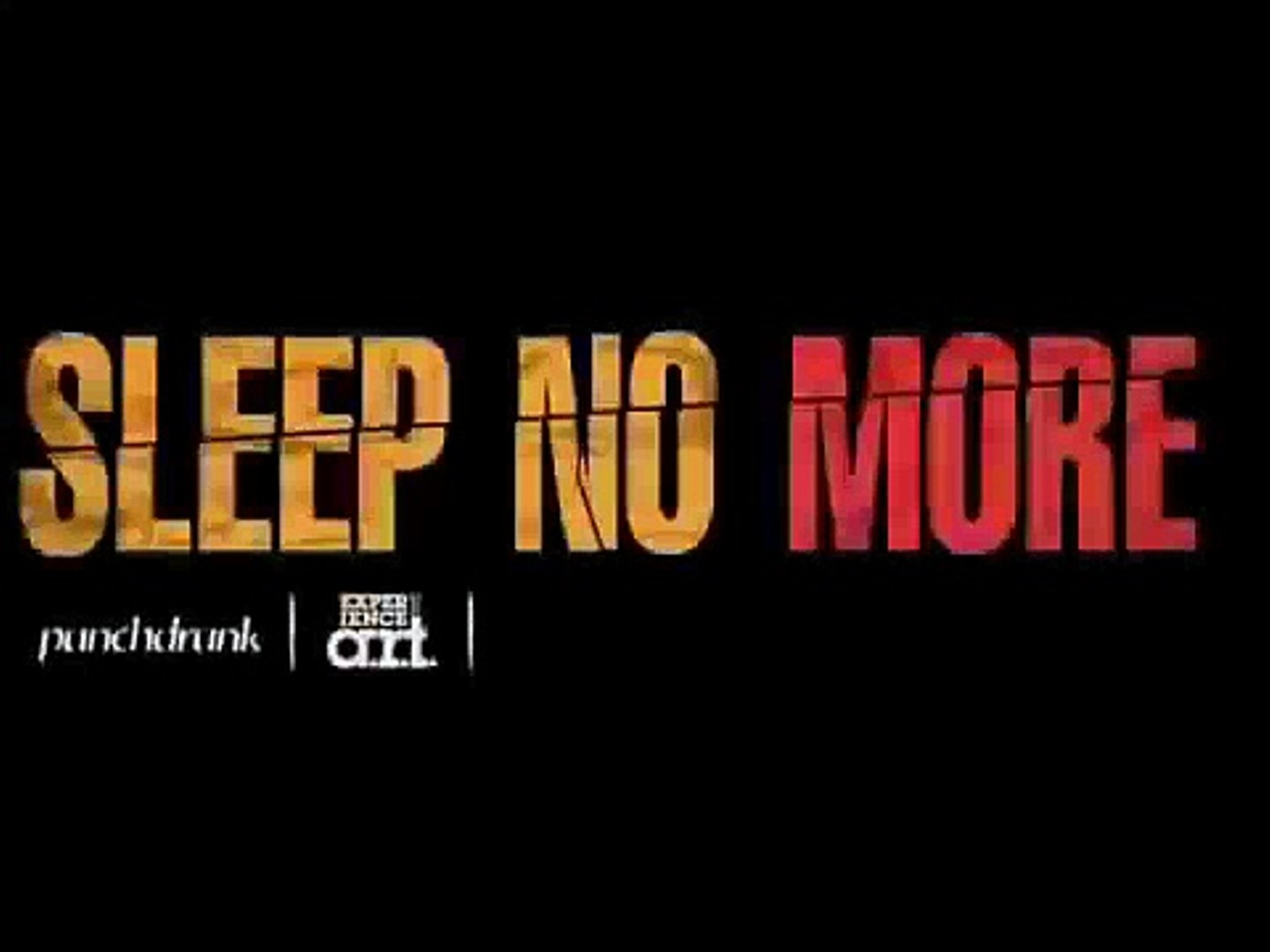 Sleep No More Logo