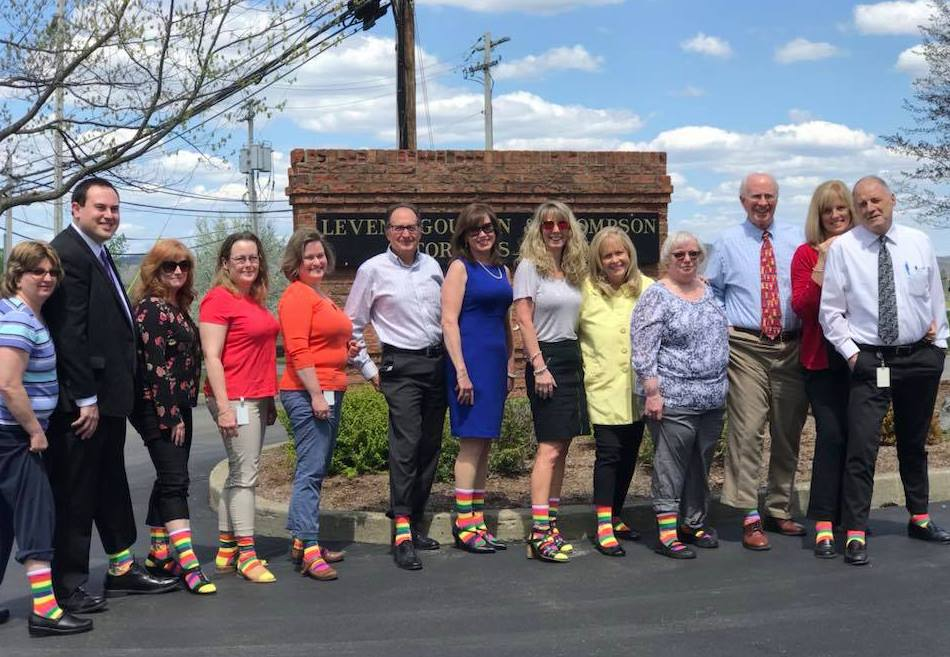 Levene Gouldin & Thompson, LLP rocking their socks