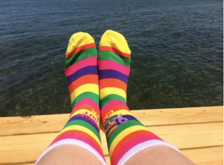 Socks at the lake