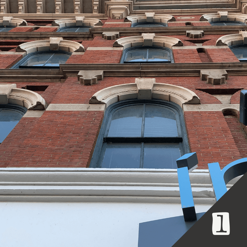 The Crittenden Building (1854) 1382 W. 9th Street   Considered a fine example of High Victorian commercial architecture. The stone hood molds over the windows and the masonry coursing at each floor is indicative of many buildings in the Warehouse District from this era.