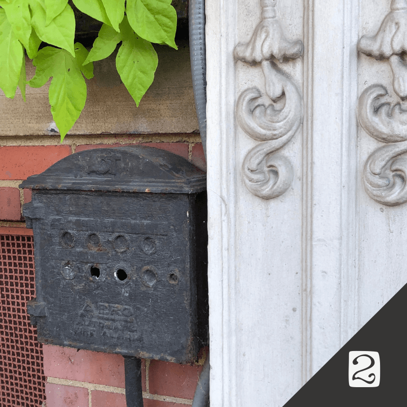 Mallorca @ Crittenden Building 1390 W 9th St   A really interesting security box that was a little hard to find!