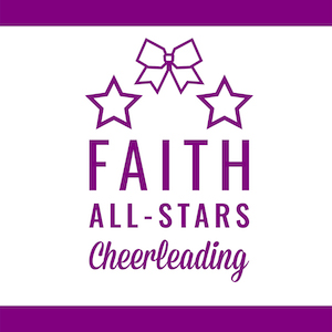 Faith All-Stars is a competitive & recreational cheerleading empowerment league for girls in K5-8th Grade.  For more information on how to get involved, please contact:   cheercoordinator@faithnc.org
