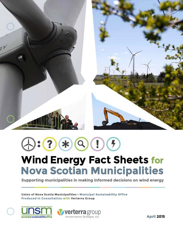 Wind Energy Fact Sheets for Nova Scotian Municipalities