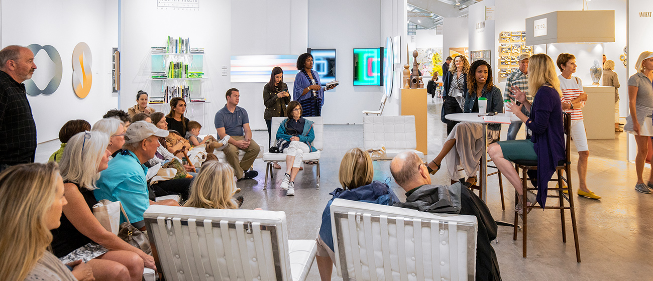 """Artist Adrienne Elise Tarver and curator Marnie Benney discuss """"Uproot: A Conversation About Plants, Humanity, and Faux Utopia"""" at Art Aspen 2019"""