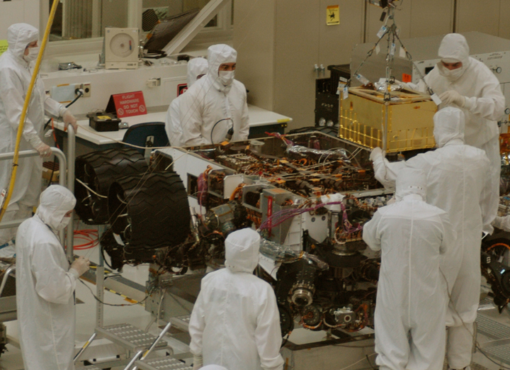 Mars Curiosity Rover, SAM Instrument Installation; Image Courtesy of NASA