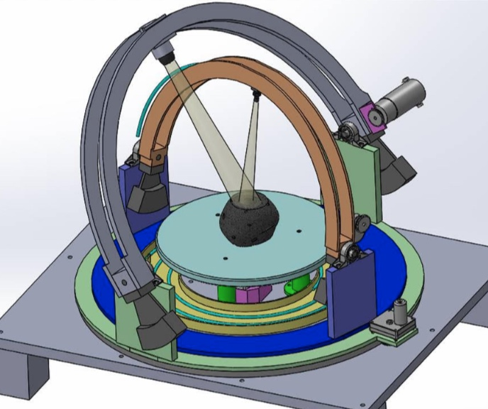 3D Goniometer Rendering. Source: Peter Illsley, First Mode