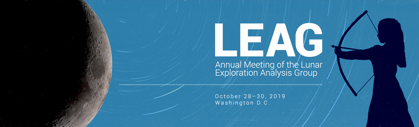 The 2019 Annual Meeting of the Lunar Exploration Analysis Group (LEAG) is scheduled for October 28–30, 2019 in Washington, D.C.