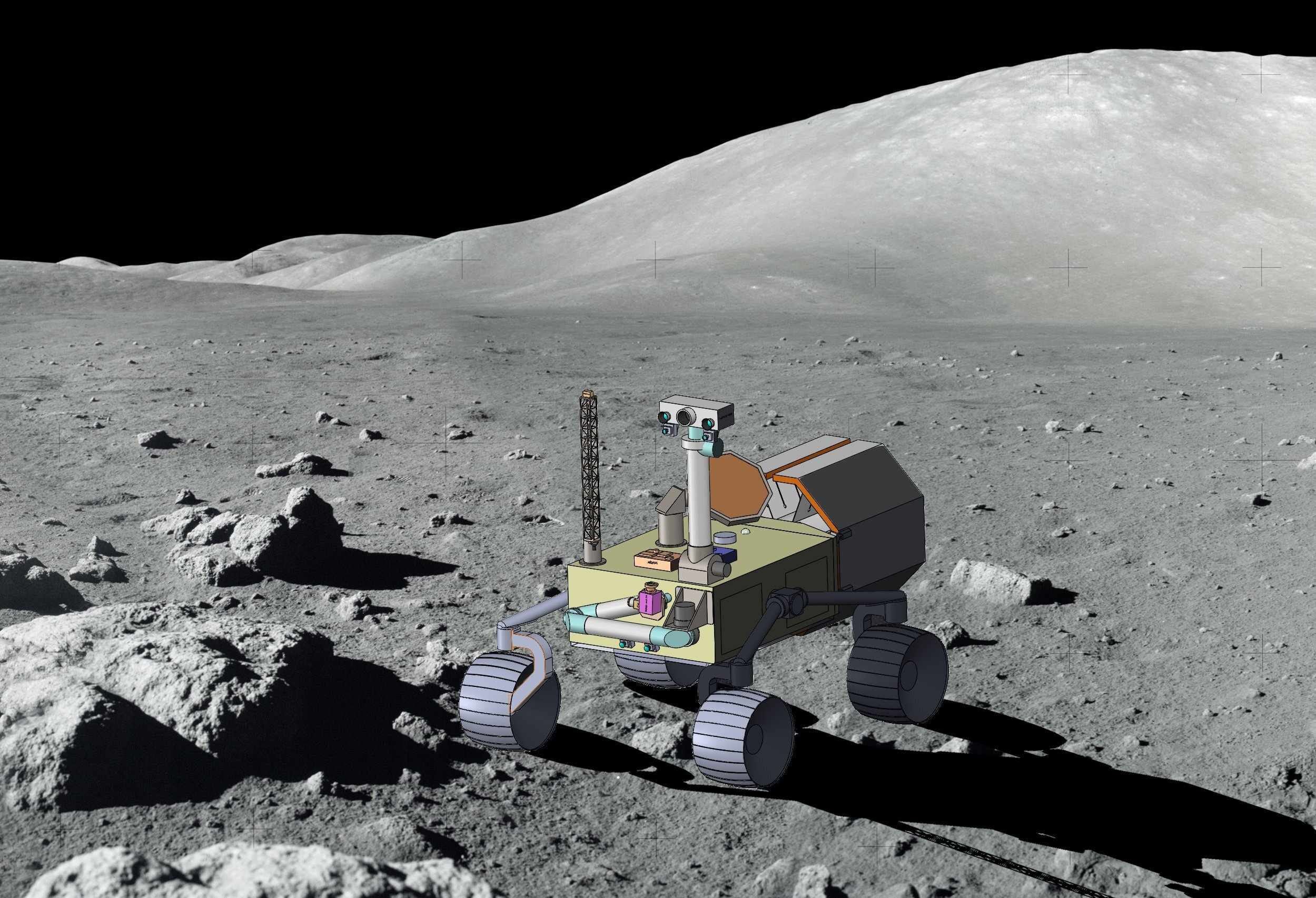 Rendering of Intrepid on the lunar surface (credit: First Mode and ASU)