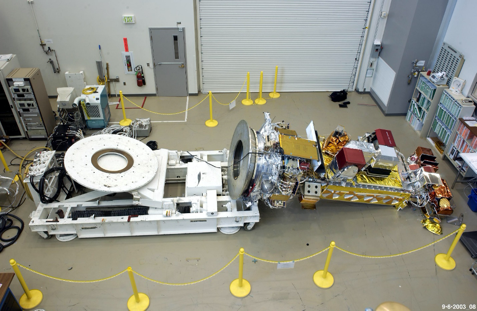 The NOAA N-Prime weather satellite fell to the factory floor. Credit: NASA report
