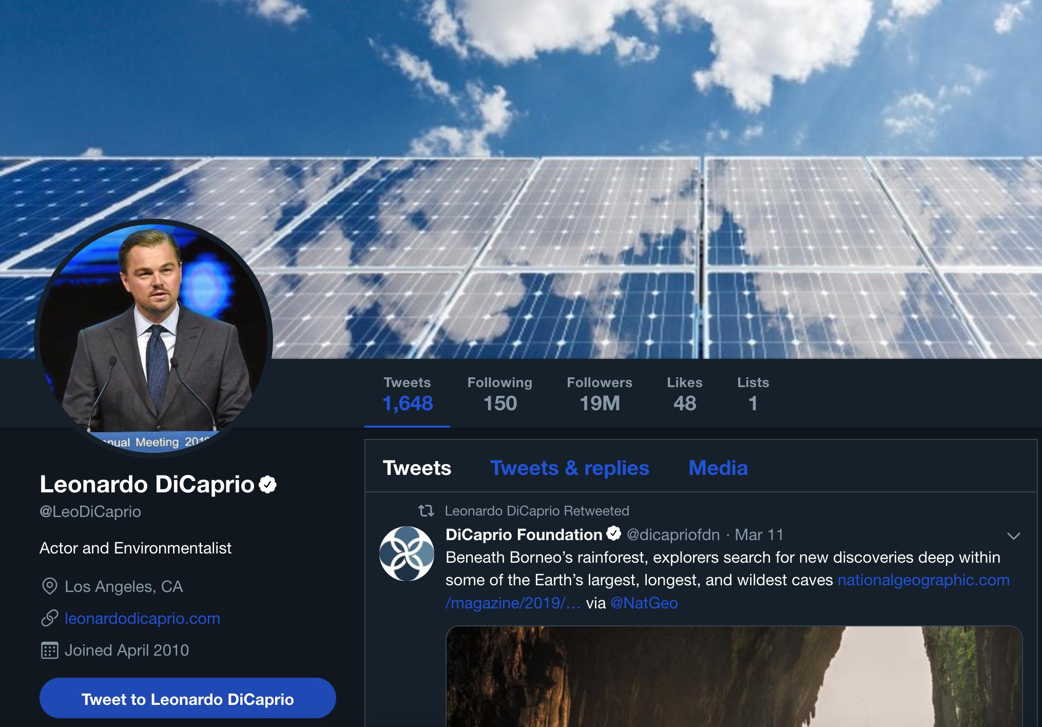 Leonardo DiCaprio Solar Twitter.png