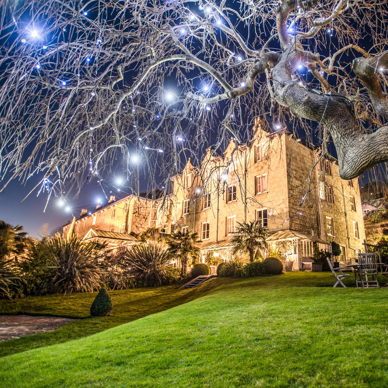 The Royal Hotel at night
