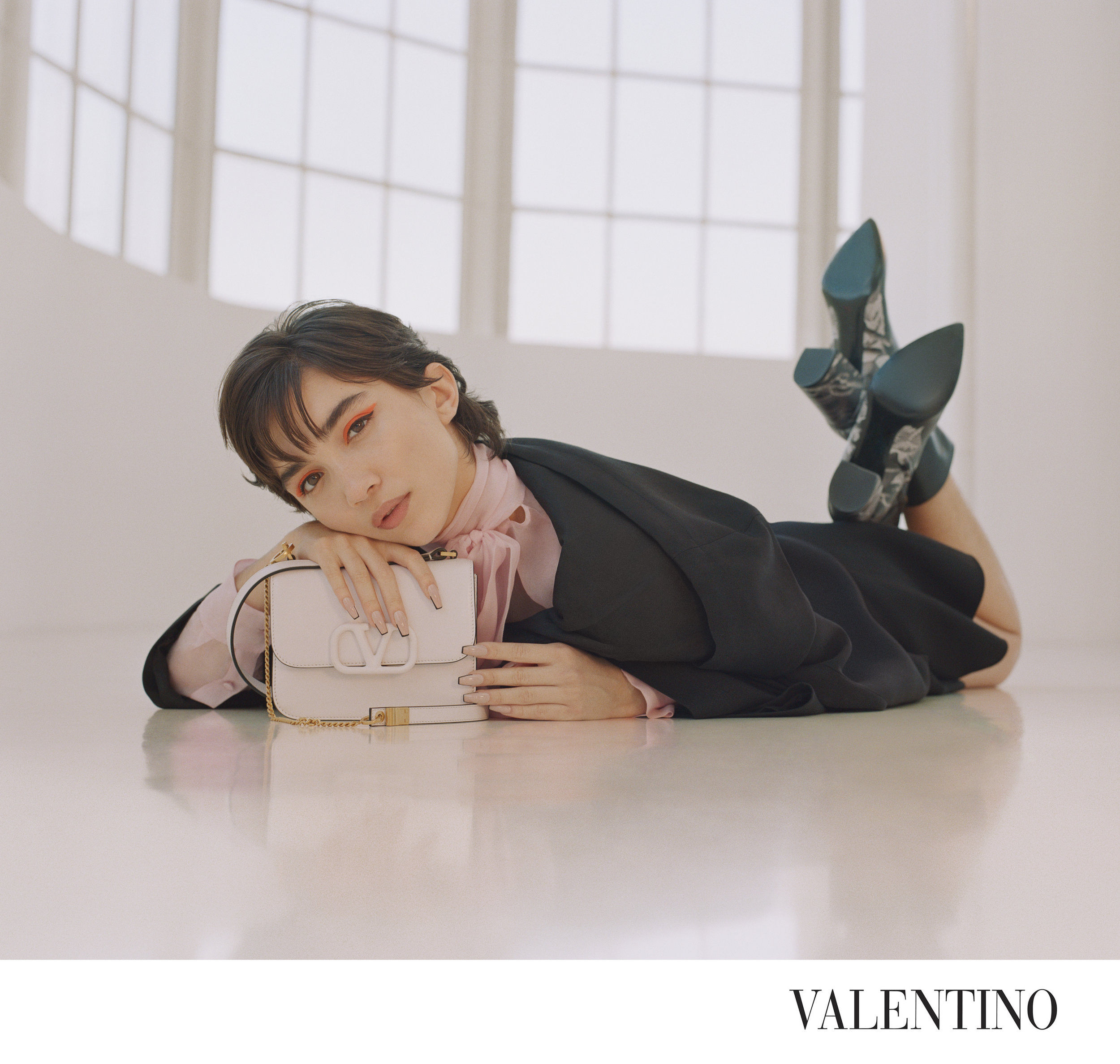 Rowan Blanchard for Maison Valentino Campaign  Photographed by Luke Gilford