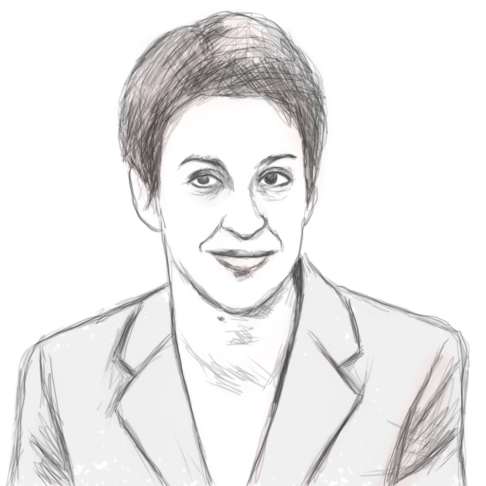 """Rachel Maddow - """"If you're someone people count on, particularly in difficult moments, that's a sign of a life lived honorably."""""""