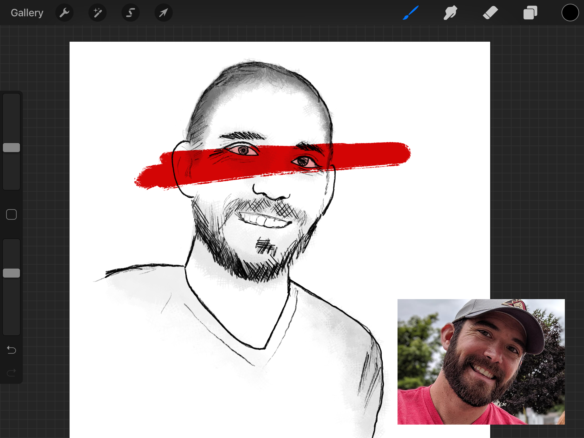 My first attempt was worse - If I had an extra month to put this issue together, I could spend it all working on this portrait. It really bugs me how off this image is.