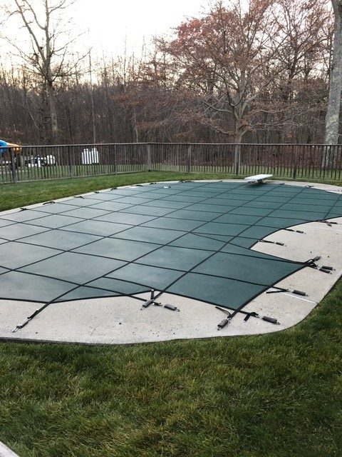 Poolside Lawn Cleanup - After