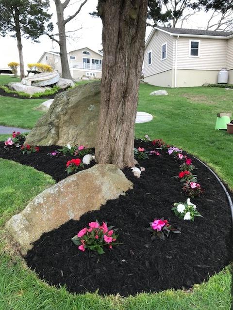 Flower & Mulch Install - After