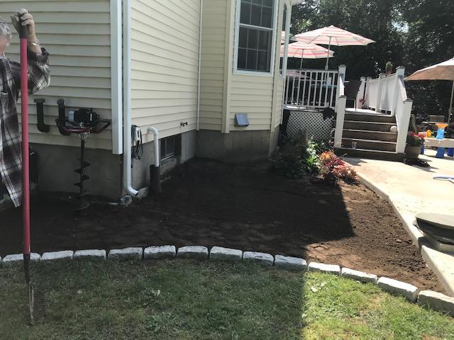 Landscaping Job - During