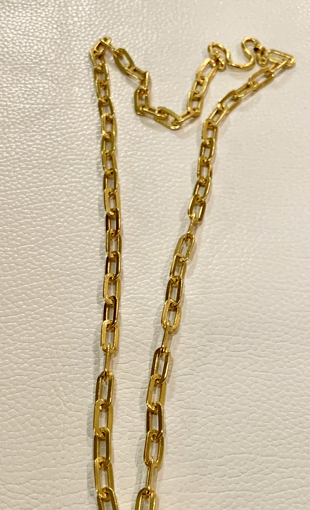 "23karat yellow gold 24"" necklace 5900.00"