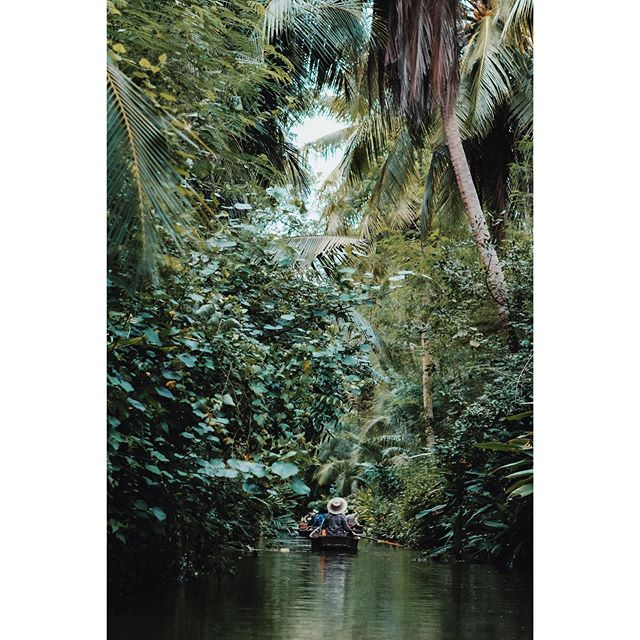 Las Vegas, Florida, Chicago, Thailand - the last few weeks have been a blur of planes, Ubers, and unfortunately, hurricanes.  This moment was the exhale - a silent float down a jungle-squeezed stream in rural Thailand.  If you visit Bangkok, you can take the same short ride from #thakhafloatingmarket in #samutsongkhram, about 1.5 hours away. Besides visiting the floating market, which is a must, you can stay in century-old teak houses that line the stream, visit nearby temples, or see how coconut sugar is made.  #thailandtravel #passionpassport #tinyatlasquarterly #tlpicks #cntraveler #luxurytravelagent #adventuretravel