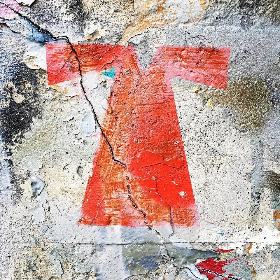"Photo:  Christine Schrum , Mural Dallas Road, ""Graffiti Dress"""