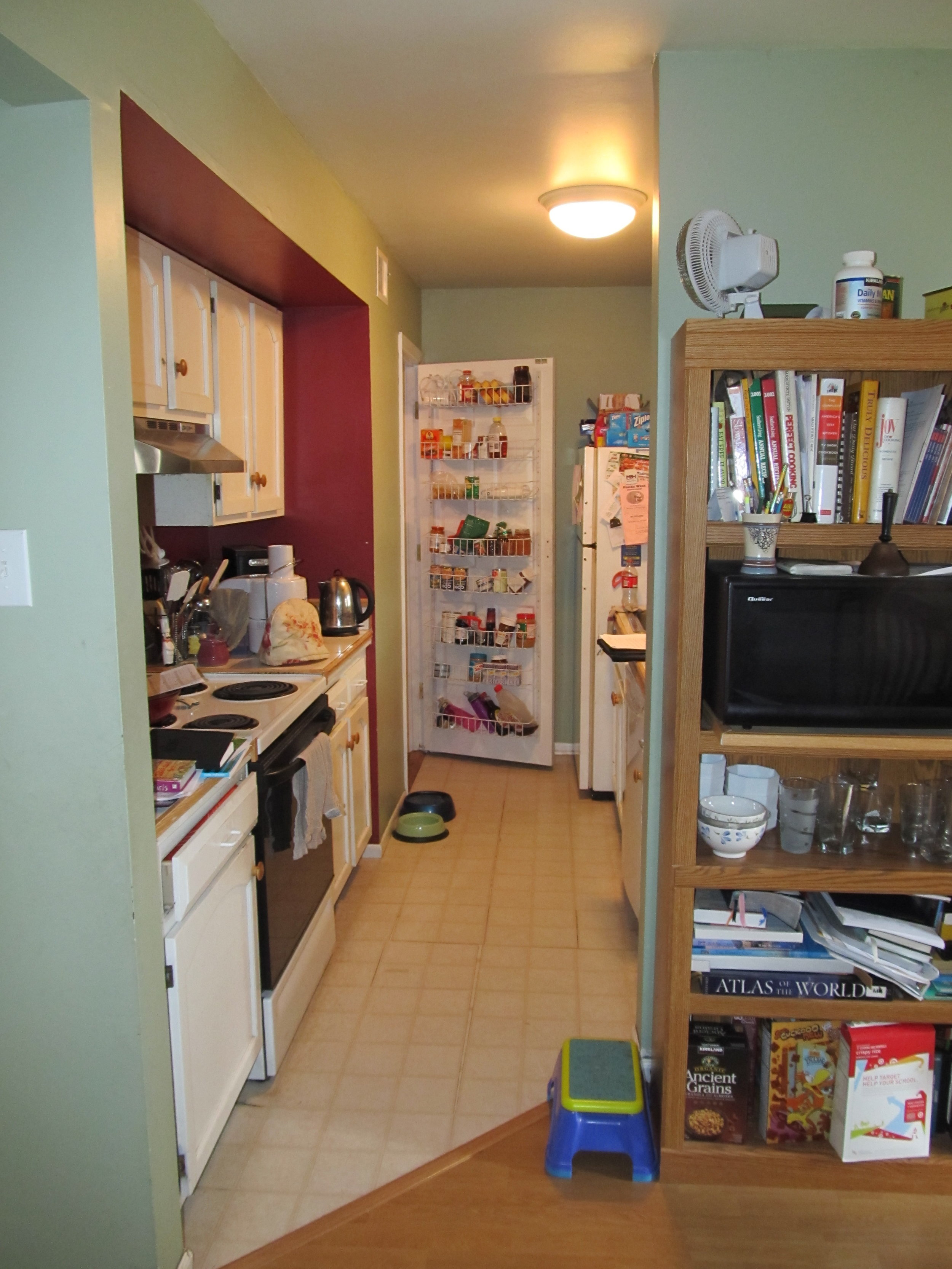 Small Cluttered Tight Kitchen Before Renovation Photo