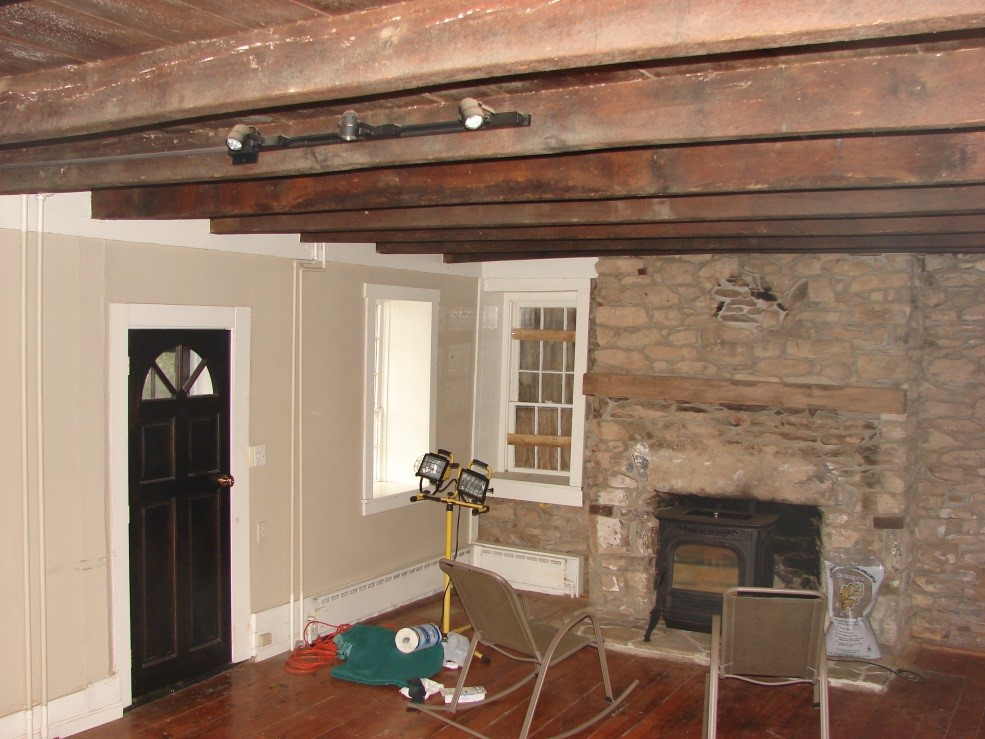 Historic Hillsboro Stone House Living Room Before Renovation Photo