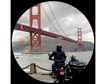 The Bridges - Let's Ride across two iconic Bridges in the world.Golden Gate Bridge and Bay Bridge