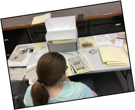 Intern Delaney organized five large bins of Nowthen history, and started her graduate degree from Simmons University.   BE LIKE DELANEY!   The ACHS Collections are large and varied. With so many different volunteers and staff members working with them over the years, we know that some collection items have wandered off. This project will give you a chance to really dig into the collections, as you pick a shelf in our stacks to check box contents and location against the records in our Collective Access museum database software.  The goal of this project is to make sure that the physical arrangement of our collections matches our database records, and to update or add records to the database when needed to be sure that every item in the collection can easily be located by searching the database. Opportunities to write entries for the ACHS History Blog, or articles for our bimonthly newsletter are available as part of this internship.   TIME COMMITMENT: 10 HOURS PER WEEK