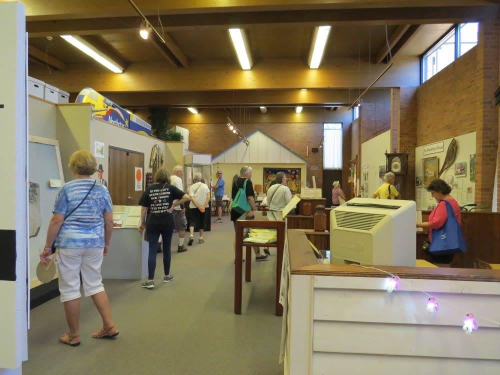 Exhibit opening, Anoka Riverfest, July 2016.
