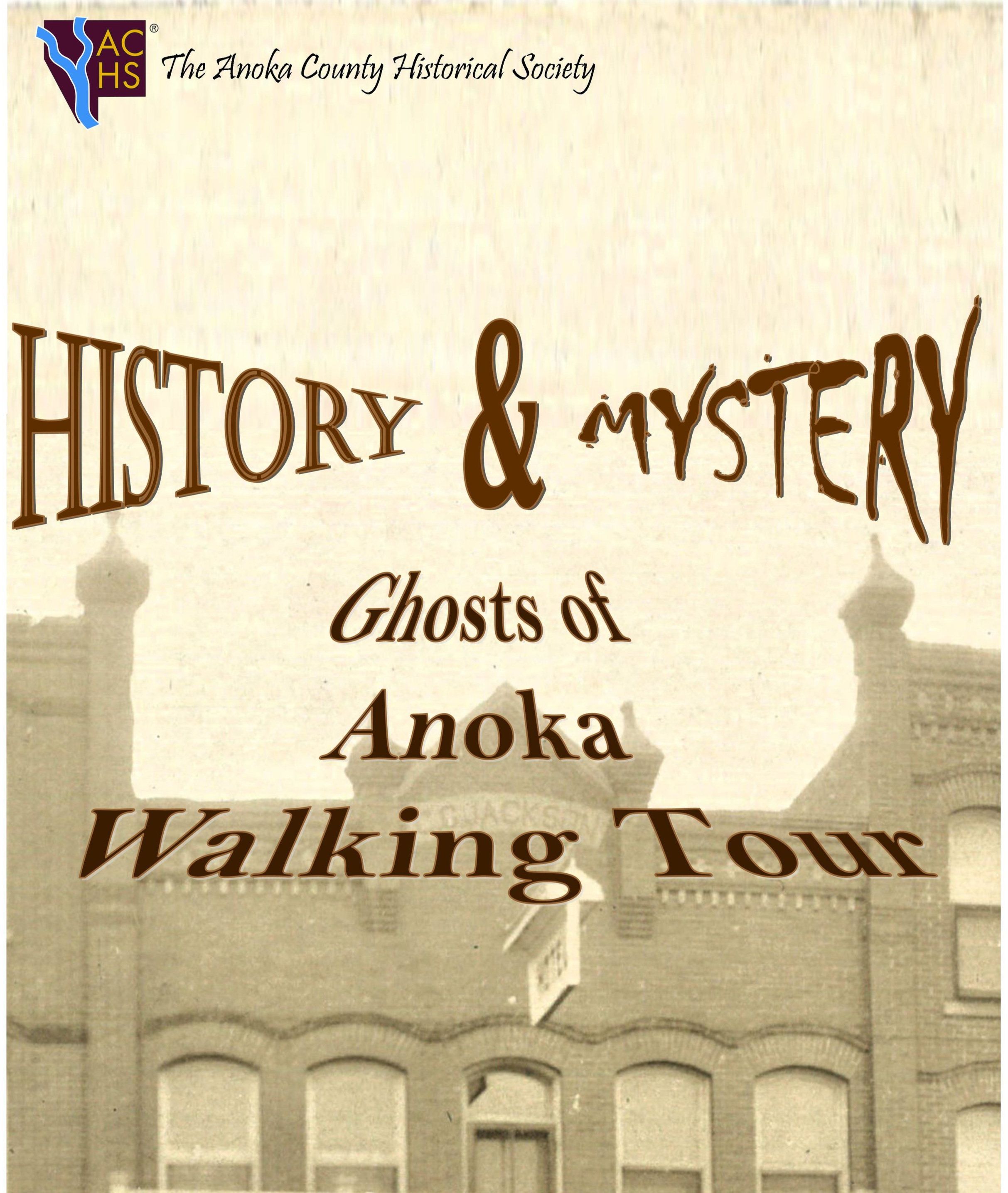 Ghosts of Anoka Walking Tour - Stories abound in Anoka of odd happenings and eerie encounters. Our costumed tour guides will take you on a walk through historic neighborhoods of Anoka, sharing stories of the past along the way.Sixty percent history, 40 percent folklore; these stories are just part of the fun you will experience on your Ghosts of Anoka tour!Schedule a private tour for your group of 15-25 or join the the fun at our scheduled tours in September and October.