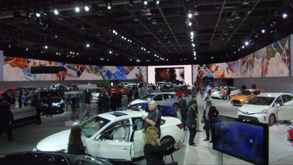 2017 NAIAS VIDEO WALL   TOYOTA