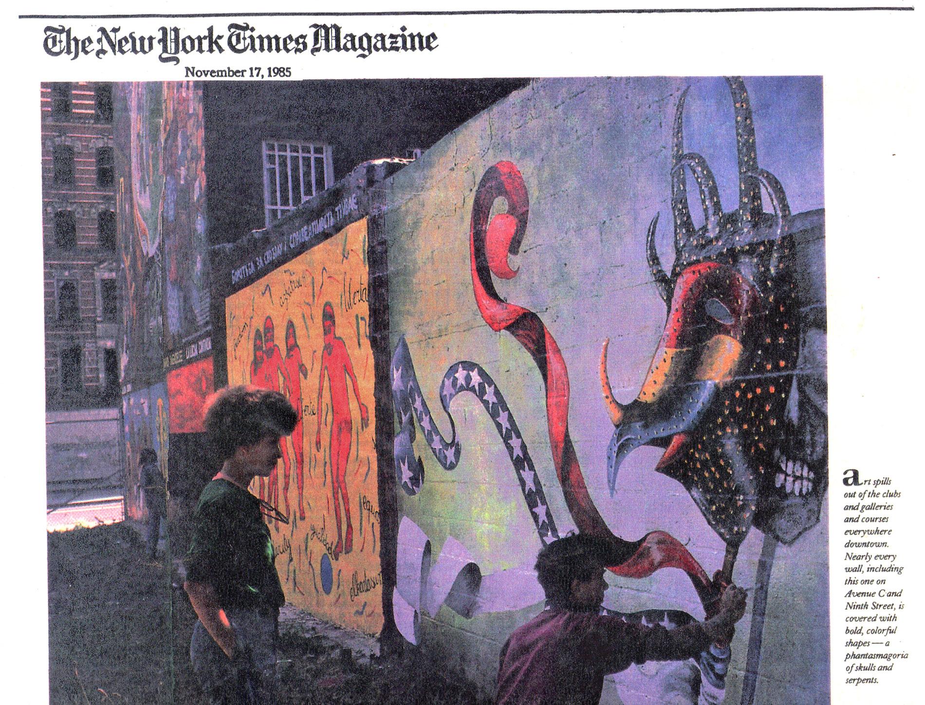 New York Times Magazine  article   Courtesy of Maria Dominguez