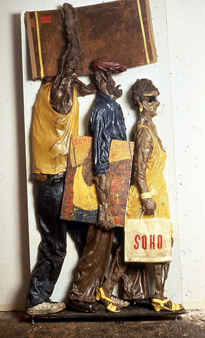 Edward Herman,  Underground Culture , fiberglass relief   (Niche 6)