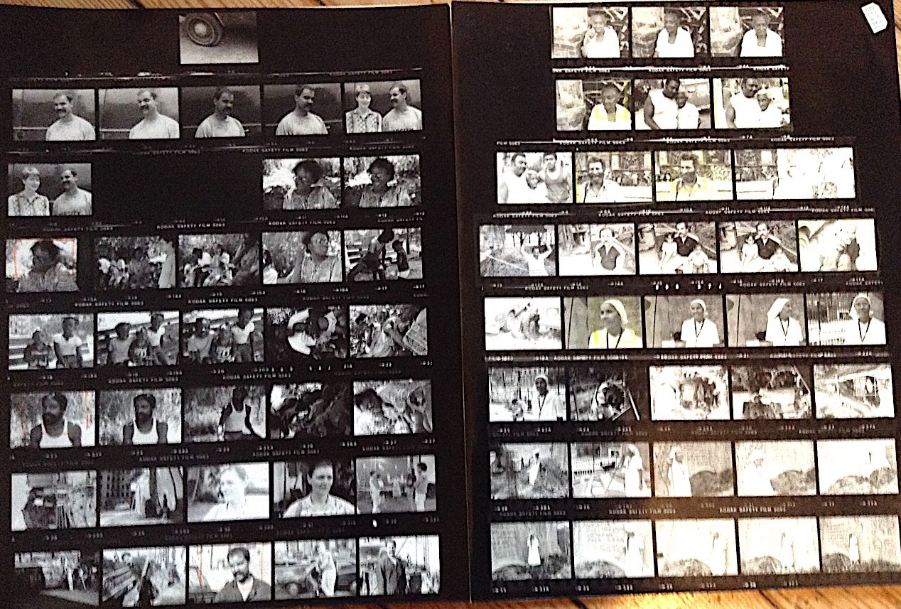 Contact sheets and portraits of Loisaida residents for panel of community jurors   Photos © Kristin Reed