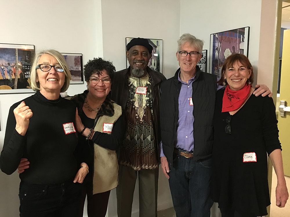 From left ,  Camille Perrotet, Maria Dominguez, Noah Jemisin, Keith Christensen, Jane Weissman.   Photo © Andrea Gordillo