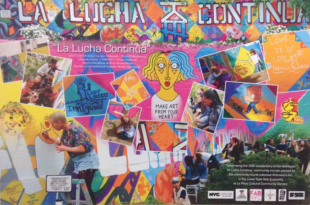 La Lucha -inspired community mural at First Street Green   Photo © Jane Weissman