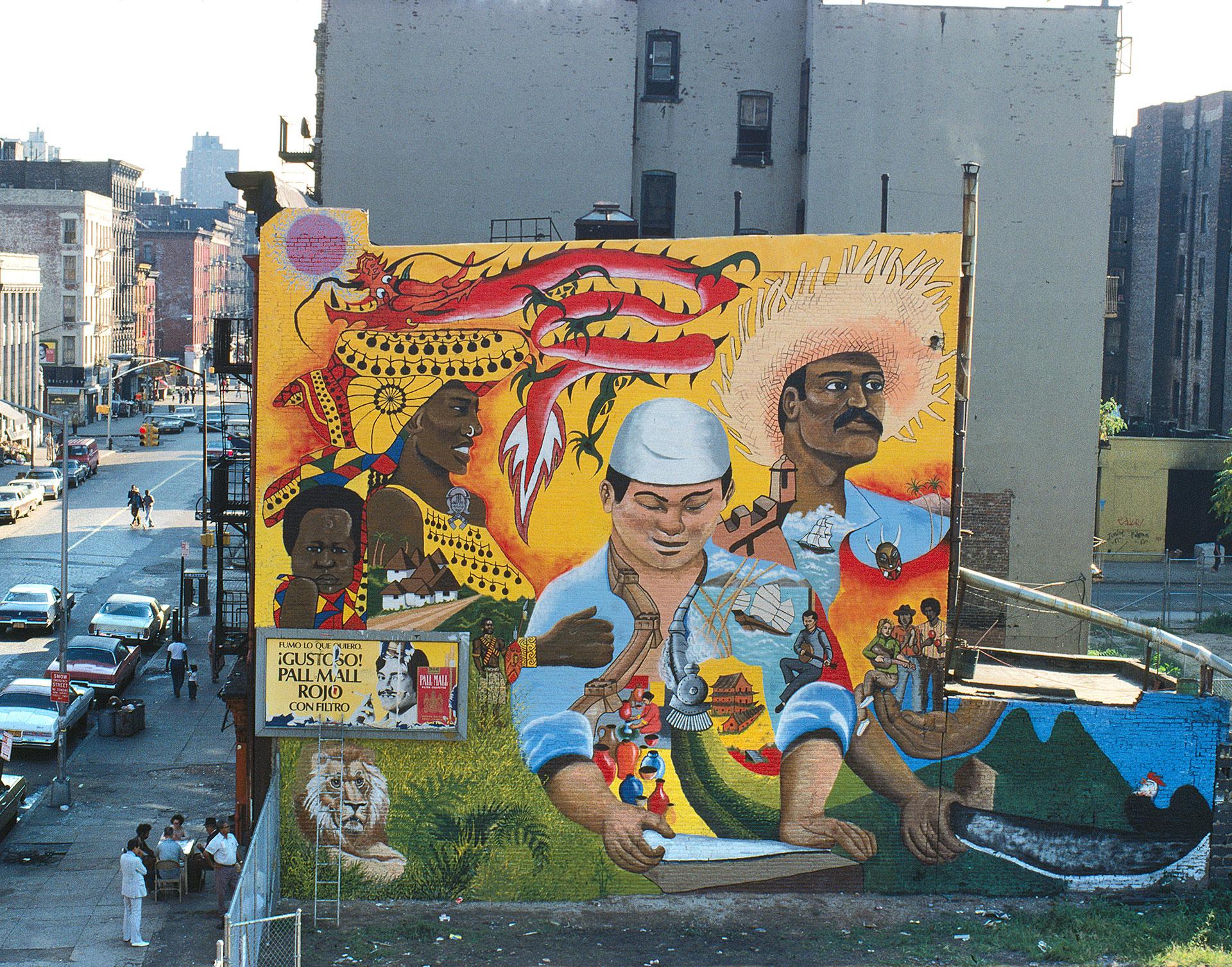 "Alfredo ""Freddy"" Hernandez,  La Plaza Cultural Mural , 1977,   © CITYarts Workshop, Inc."
