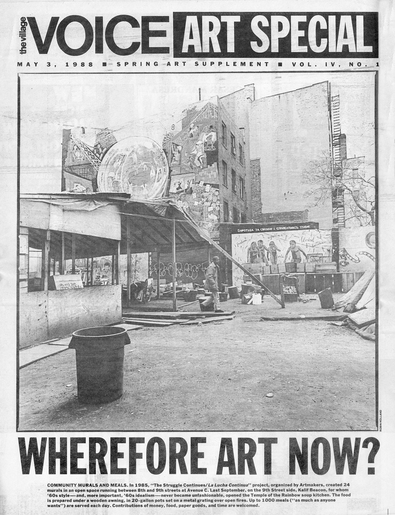 The Village Voice / Art Special , May 3, 1988, cover   Courtesy of La Plaza Cultural Archives