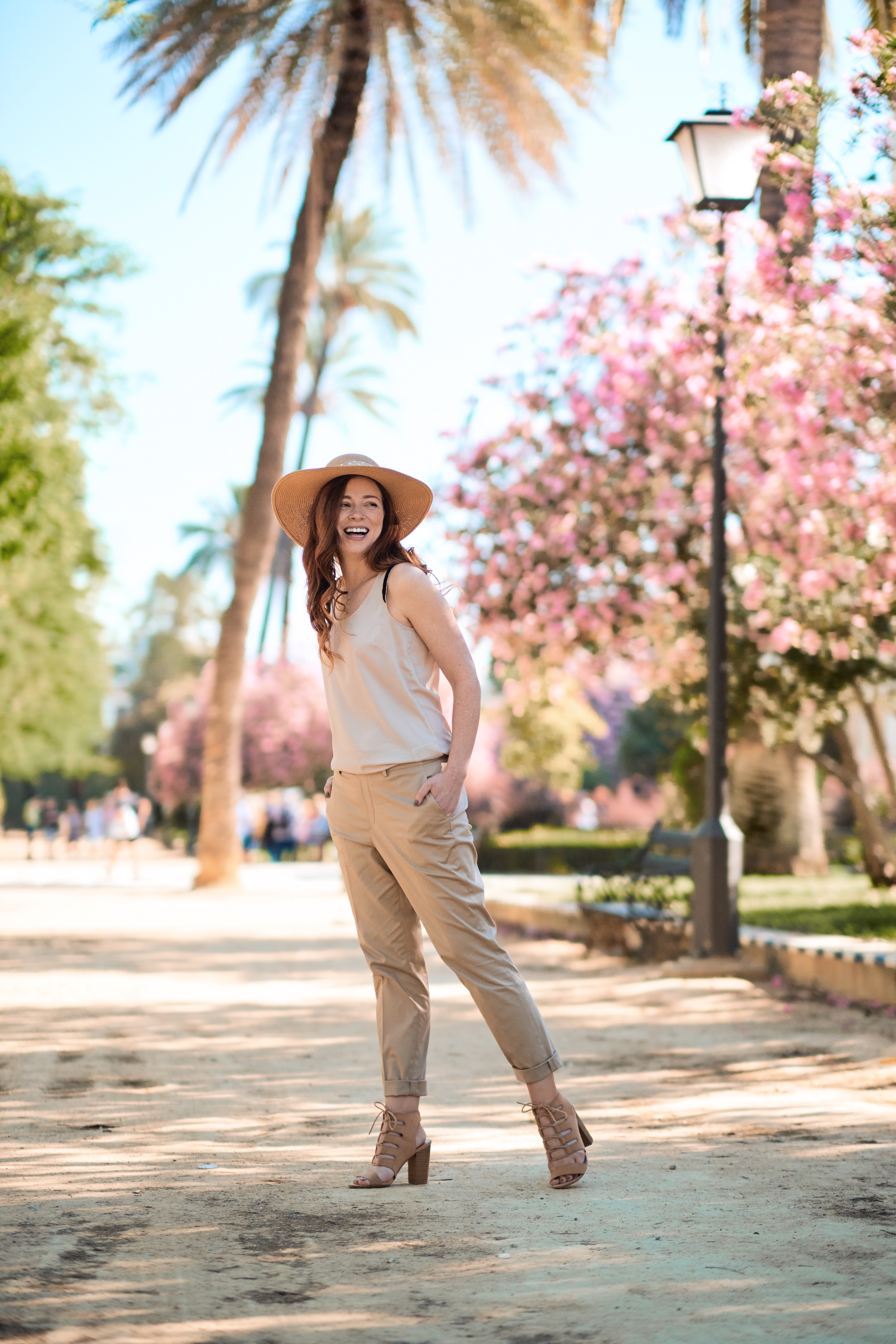 - Sticking to a colour palette is a great way to make a capsule wardrobe for your trip - it means you can mix and match all the pieces without having to worry about clashing colours.Top: HMTrousers: Uniqlo
