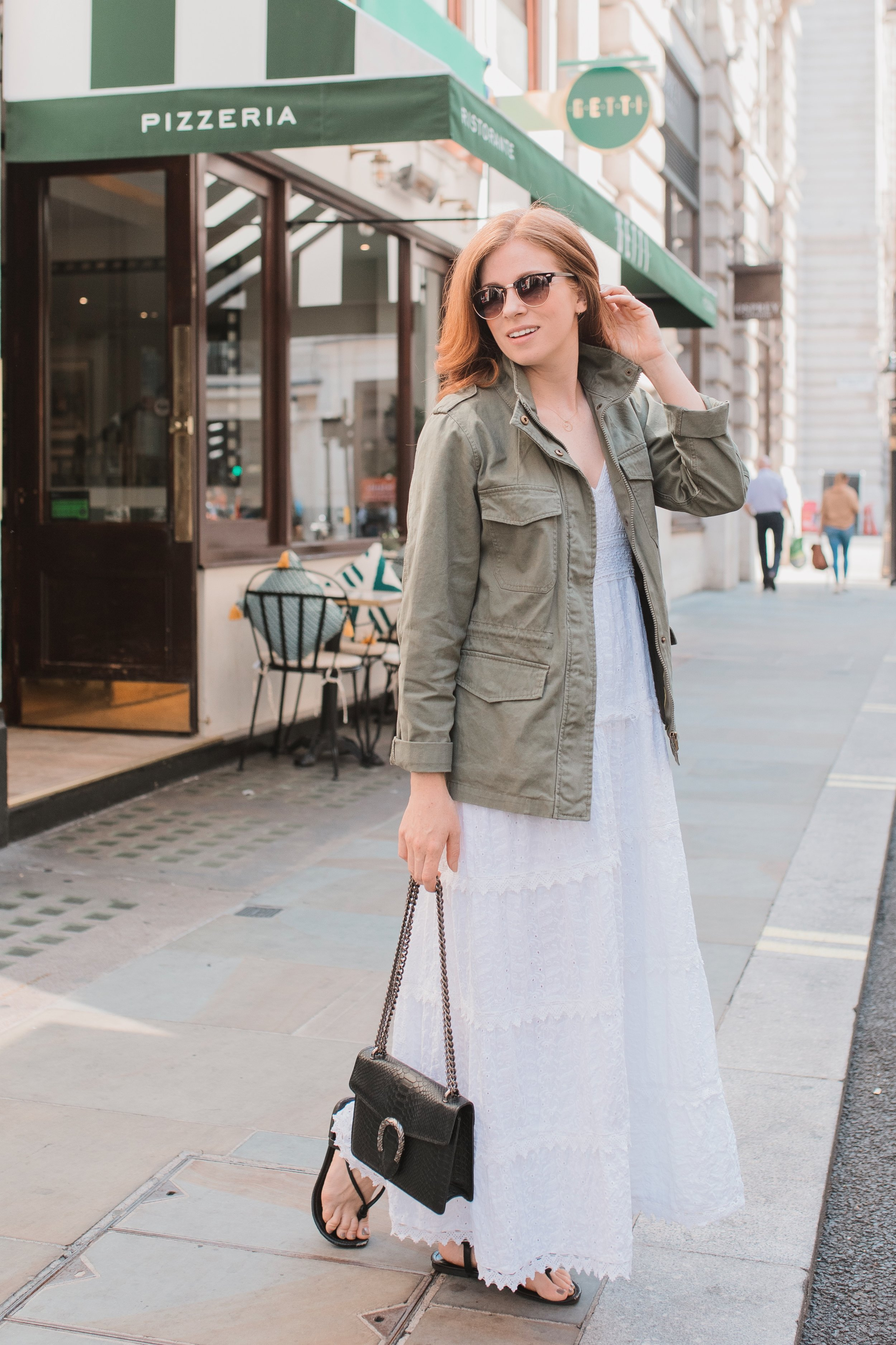 - A floaty maxi will be much cooler than a tight vest top and shorts.A lightweight jacket is essential for this ever changing weather - you never know when a sudden shower might take you by surprise.