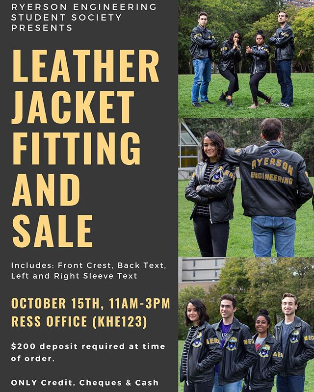 It's that time of the year ryEng! Our custom leather jackets are back for order. The base cost is $365+tax with a $200 deposit at the time of order. More information in our graphic.