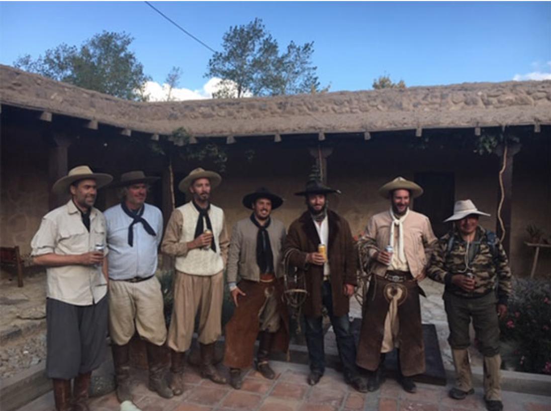 The gauchos visit Bill at Gualfin